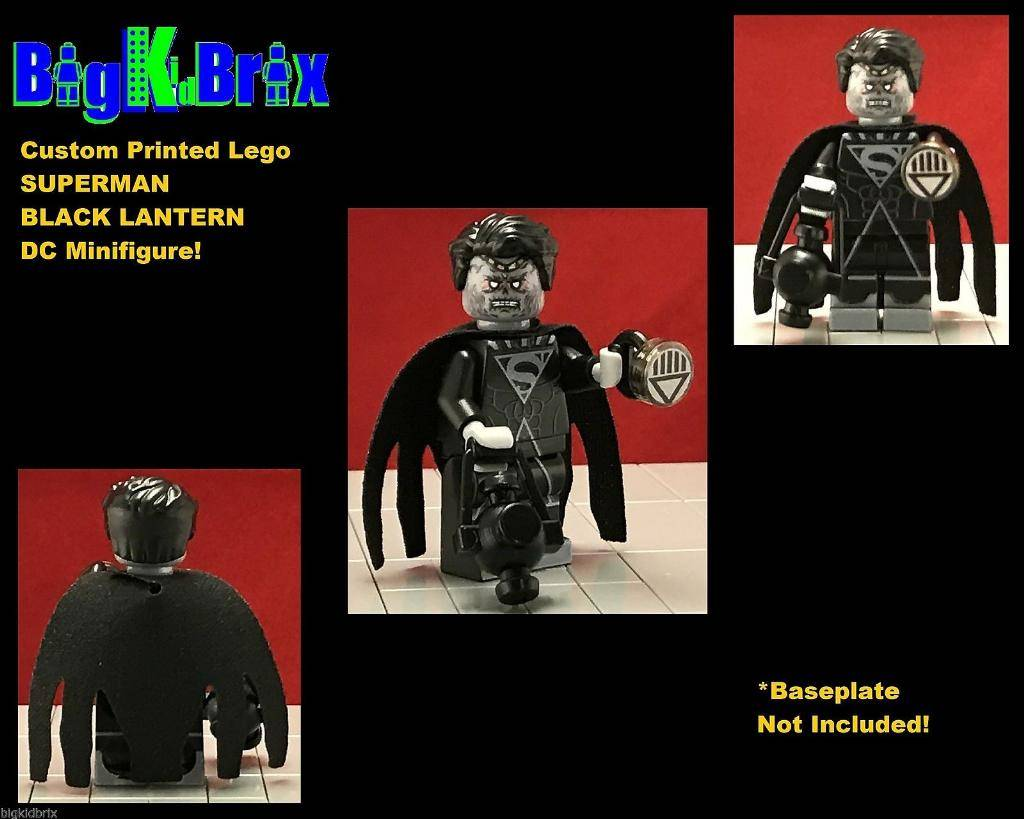HeroBloks - Black Lantern Superman  Black Lantern Superman Symbol