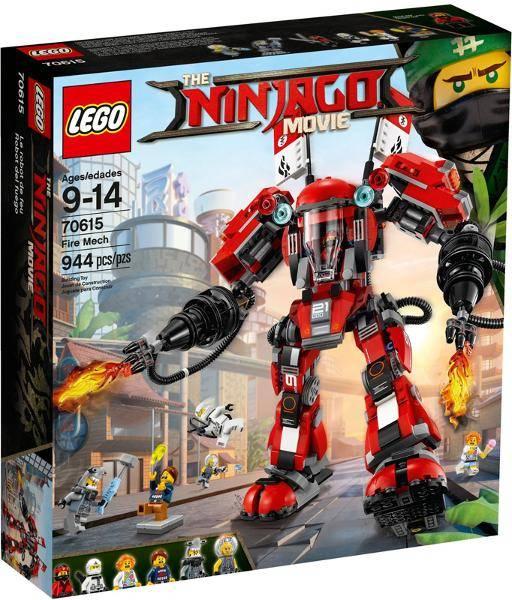 Lego Ninjago Movie Kai Red Ninja Fire Mech Driver Minifigure 70615 njo349