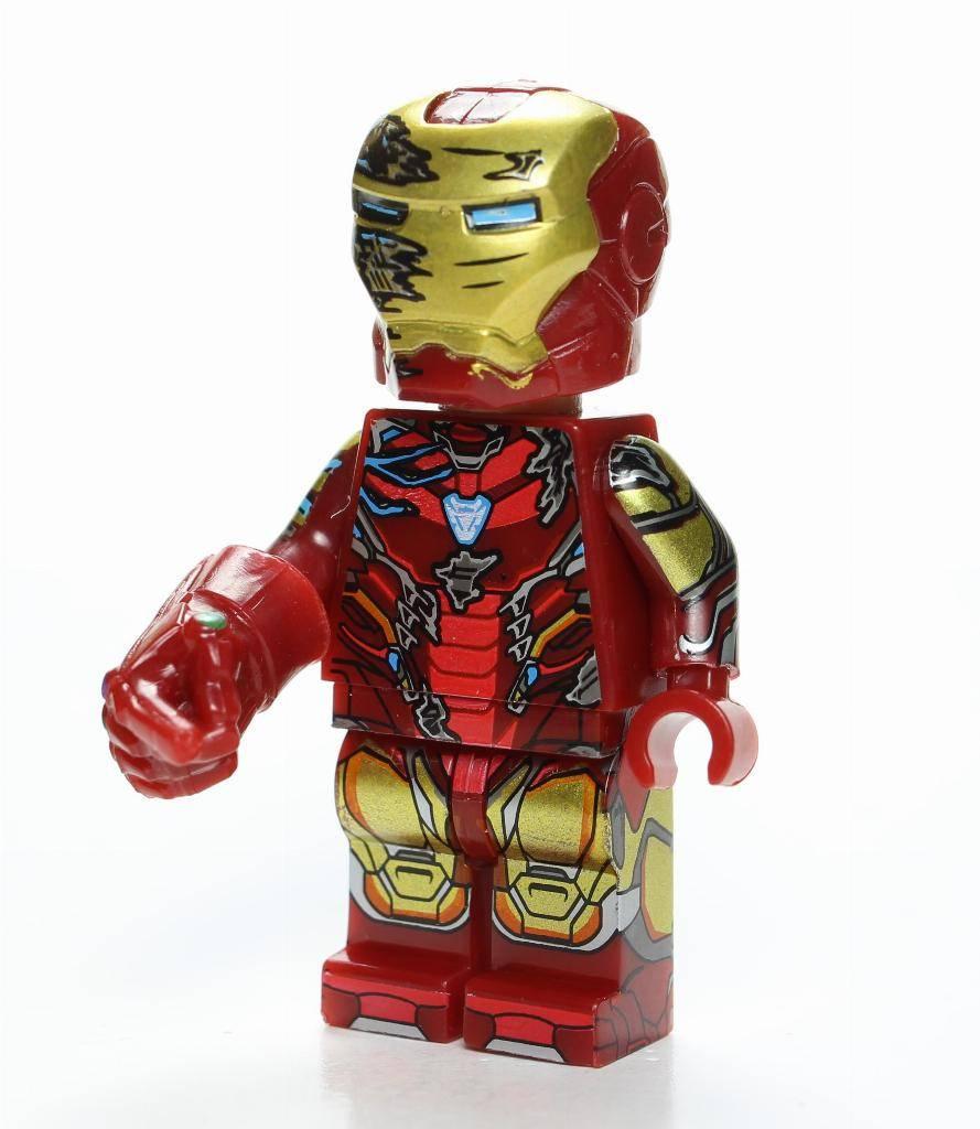 Iron Man Downey Avengers Marvel Stark Custom Lego Mini Figure MK24 Striker Tank